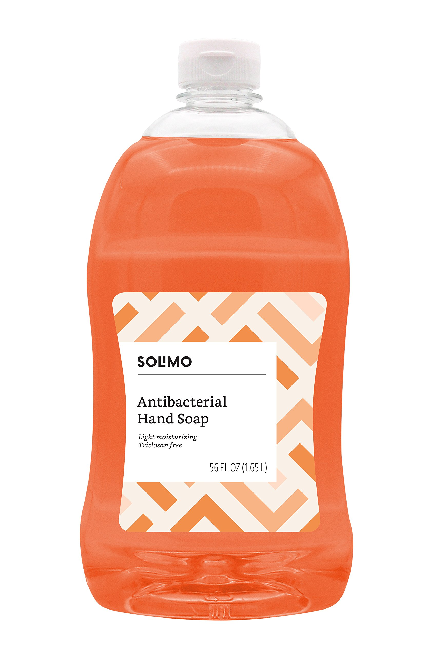 Amazon Brand - Solimo Antibacterial Liquid Hand Soap Refill, Light Moisturizing, Triclosan Free, 56 Fluid Ounces
