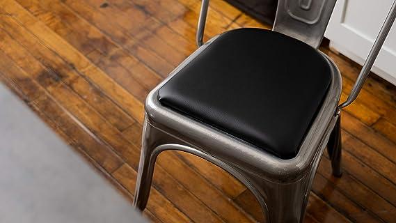 Redondeadas silla/taburete cojín para sillas de metal Tolix ...