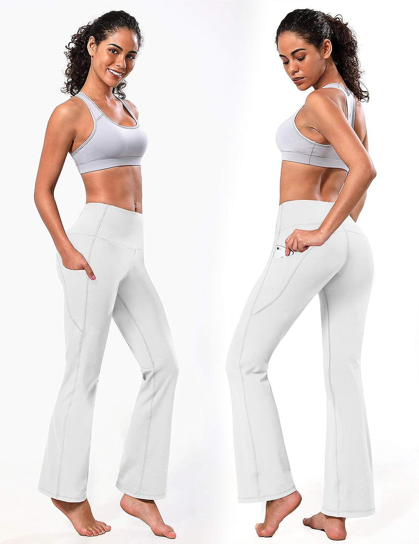 BUBBLELIME 29//31//33//35//37 4 Styles Womens High Waist Bootcut Yoga Pants Basic//Back Pocket Tummy Control Workout Bootleg