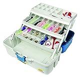 Plano Ready-Set-Fish 3-Tray Tackle Box with Tackle, Premium Tackle Storage