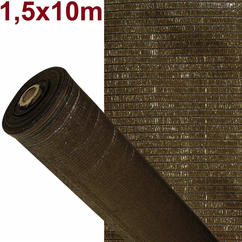 ARTISEC Malla de sombreo ocultación Lona Sombra Color marrón 1,5x10m Metros rejas
