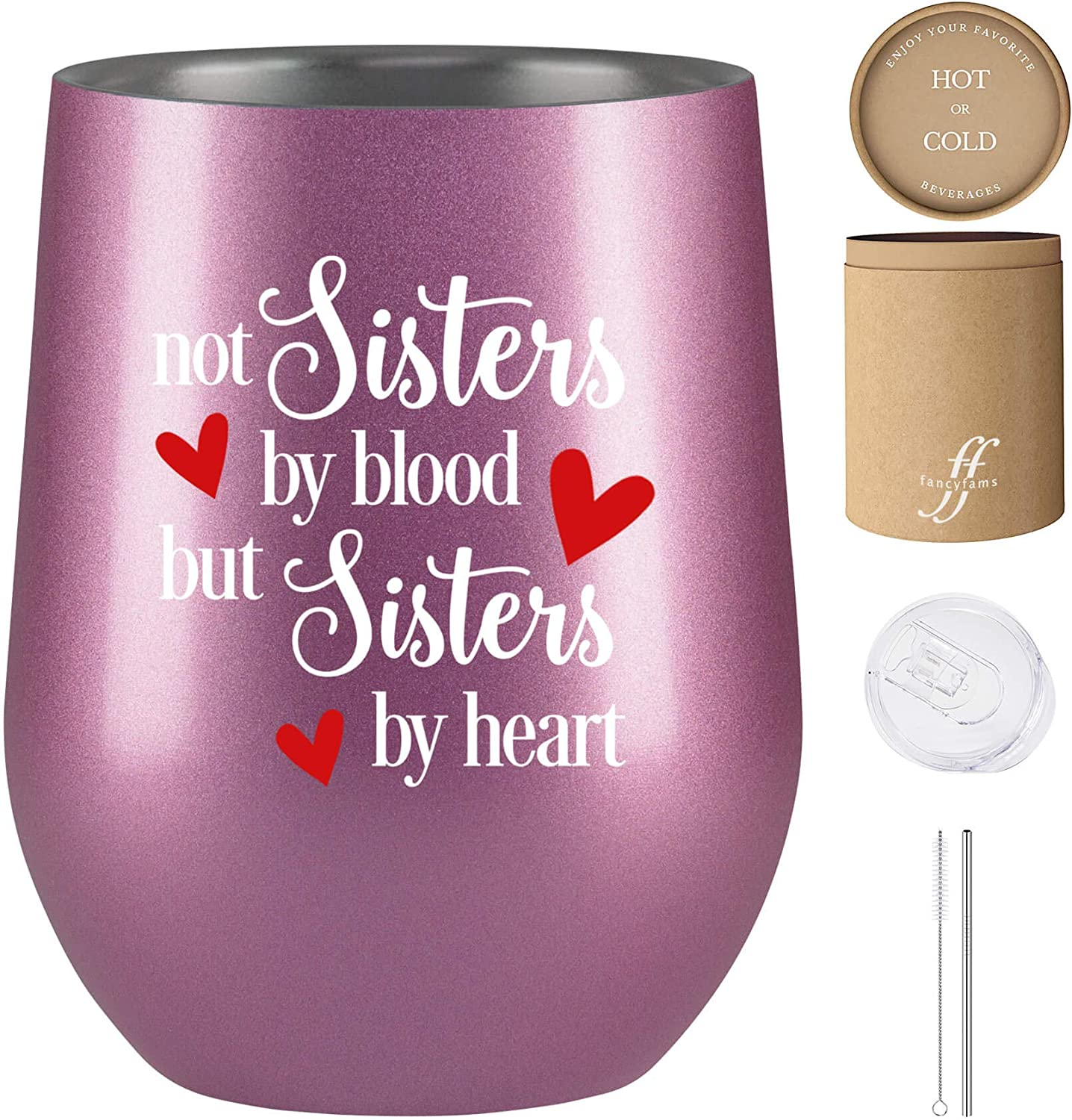 Gift For Her Step Sisters Stainless Steel It/'s Not Flesh /& Blood But The Heart That Makes Us FamilyCharm Bangle Adoption,Best Friends