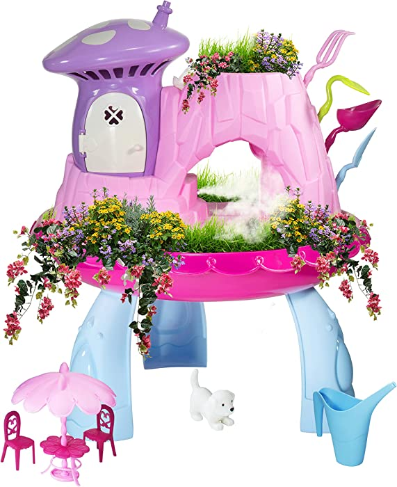 Greenbo Fairy Garden Kits for Girls and Boys Kids Gardening Set with Cool Mist Spraying Function Indoor Outdoor Play Activity Gardening Tool Set Toys for Kids Toddlers Ages 3 up