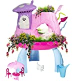 Greenbo Fairy Garden Kits for Girls and Boys Kids Gardening Set with Cool Mist Spraying Function Indoor Outdoor Play…