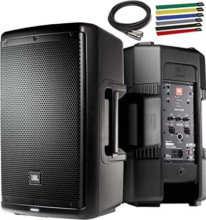 """JBL Professional EON9 Portable 9"""" 9-Way Multipurpose Self-Powered Sound  Reinforcement Speaker with 9ft XLR Cable and 9Pk Cable Ties"""