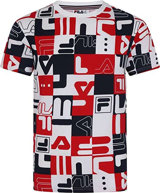 Fila Vintage Hombre Camiseta Estampada Mylo Graphic All Over 64d2f09d4c182