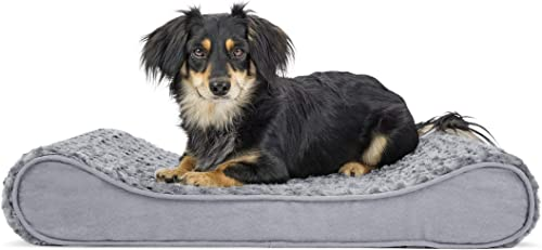 Furhaven Pet Dog Bed Orthopedic Ergonomic Luxe Lounger Cradle Mattress Contour Pet Bed for Dogs Cats – Available in Multiple Colors Styles Renewed