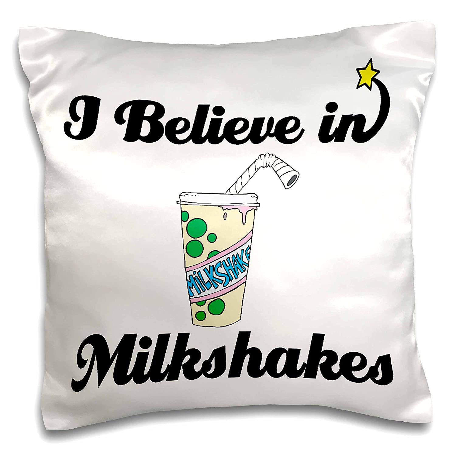 Dooni Designs I Believe In – I Believe In Milkshakes – 枕ケース 16x16 inch Pillow Case pc_105353_1 16x16 inch Pillow Case  B016KAVBTM