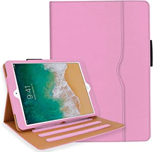iPad 6th Generation Cases, iPad Air 2 Case, iPad Air Case with Pencil Holder - iPad 9.7 inch 2018 2017 Case - Hand Strap, Auto Sleep Wake, Multi-Angle Stand - A1822 A1823 A1474 A1475(Light Pink)