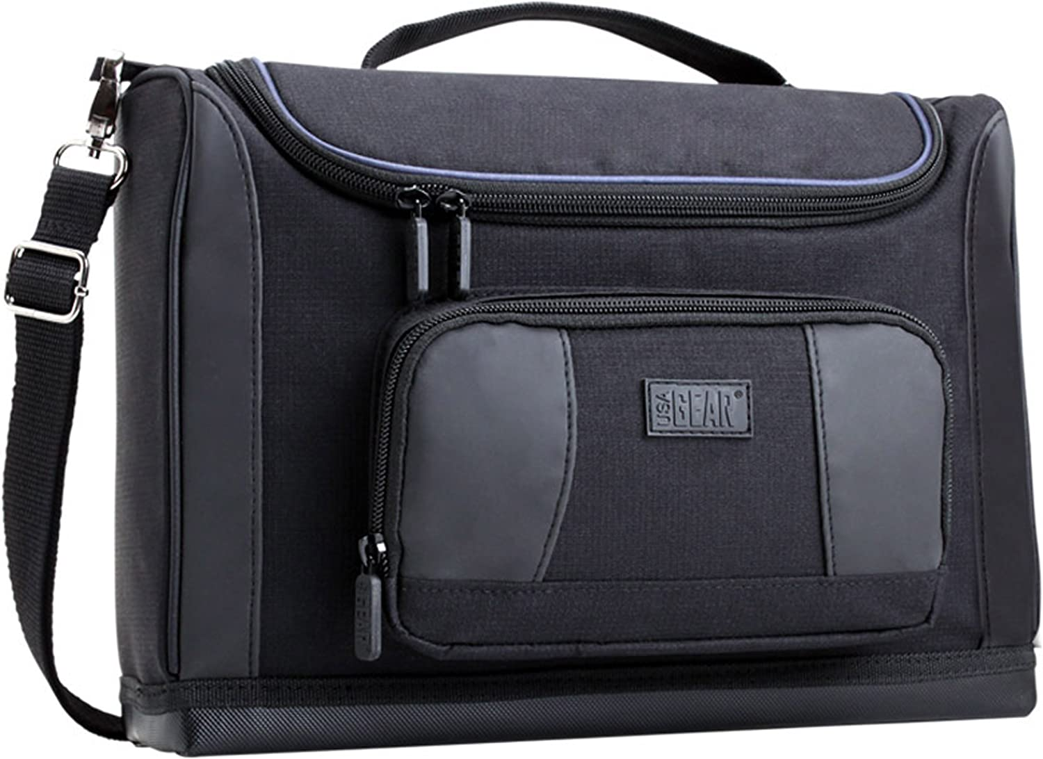 """USA GEAR Compact Travel Bag Case Compatible with Dell Inspiron 11 3000 11"""" 2-in-1, Acer Chromebook R11 11.6"""", RCA Galileo Pro 11.5"""", Lenovo Chromebook C330 11.6"""" - Customizable and Protective Interior"""