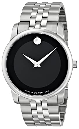 82bfcc430 Amazon.com: Movado Men's 0606504 Museum Stainless Steel Bracelet Watch:  Movado: Watches