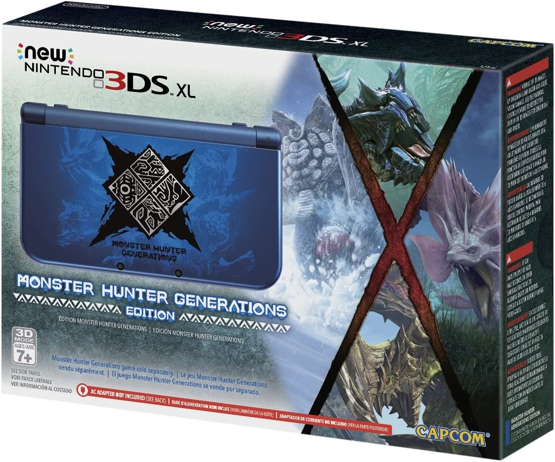 Amazon com: New Nintendo 3DS XL Monster Hunter Generations Edition