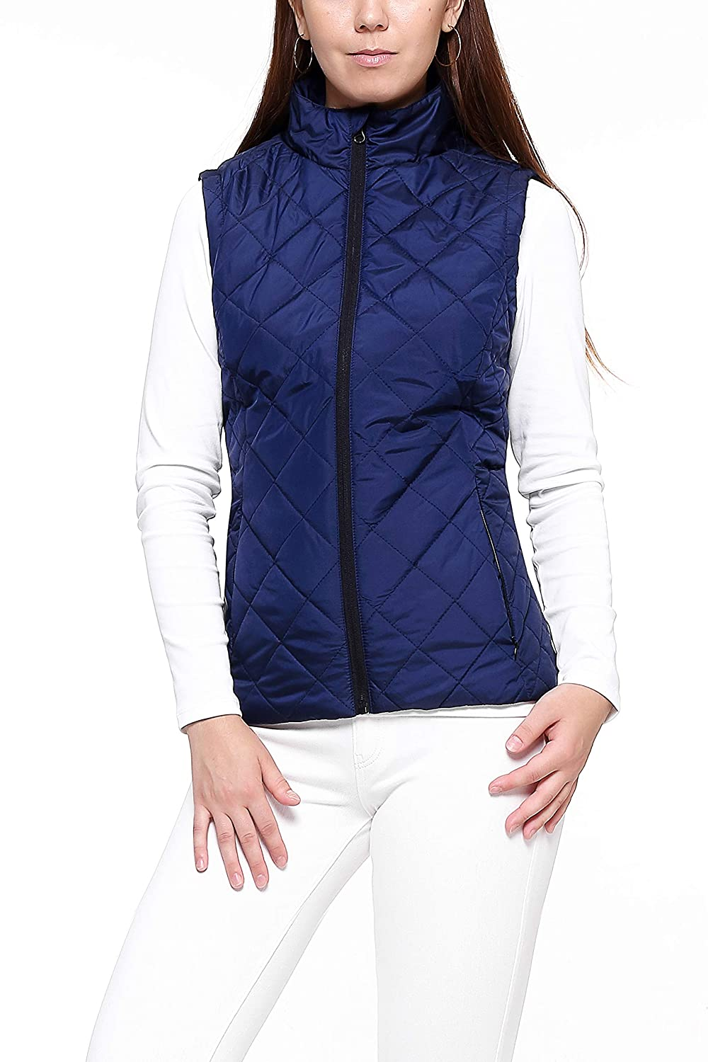 More Golooper Lightweight Quilted High Collar Women's Vest