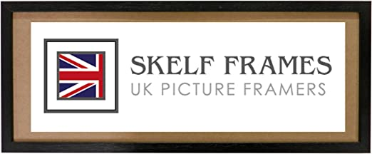 SHINY BLACK WOOD PANORAMIC PICTURE PHOTO POSTER FRAME with Glass