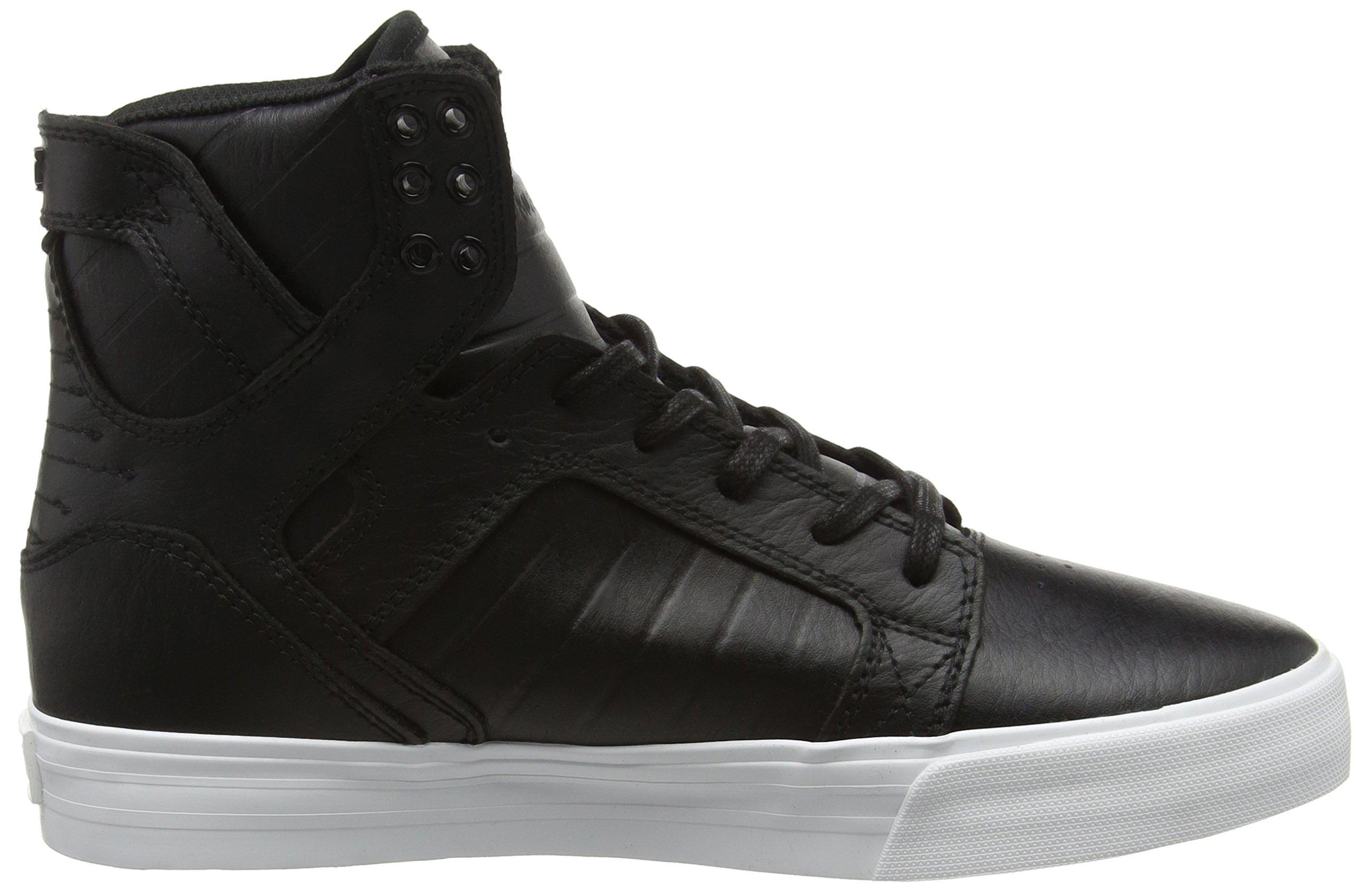 Supra Skytop Skate Shoe, Black/White, 5.5 Regular US by Supra (Image #6)