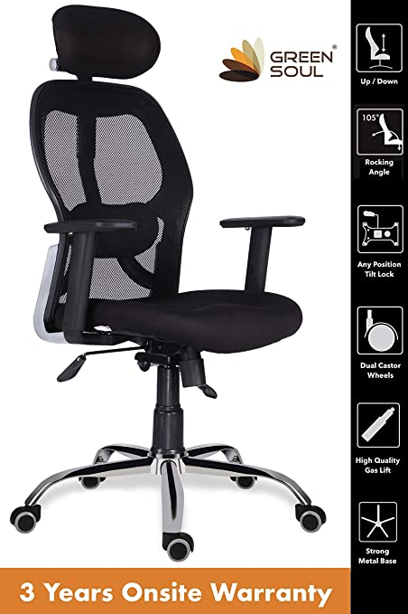 Green Soul NewYork High-Back Office Chair (Black)