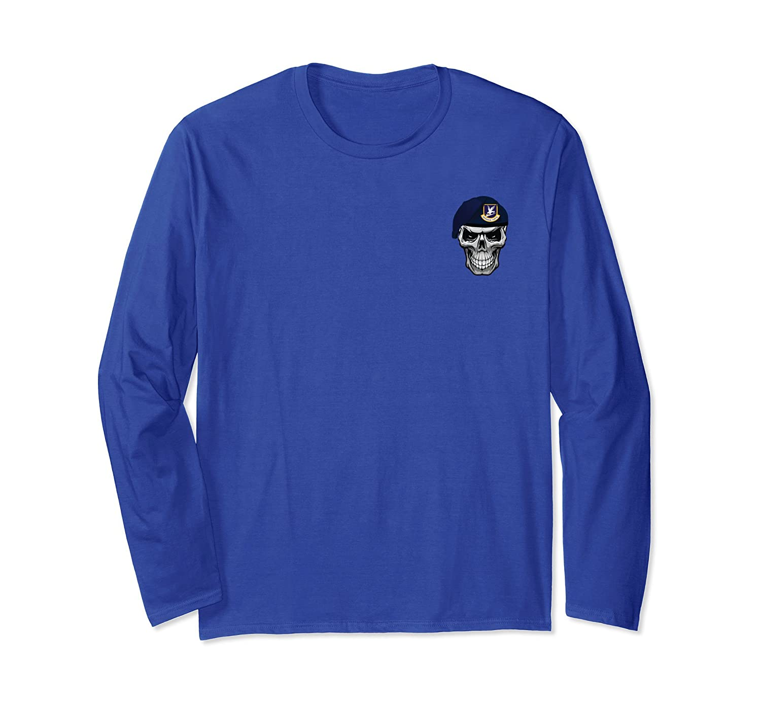 Air Force Security Forces Defender Patch Skull Long Sleeve-mt