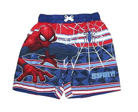 70aec0b426 Spiderman Marvel Toddler Boys Swim Trunks Bathing Suit (Blue Spider, 5T)