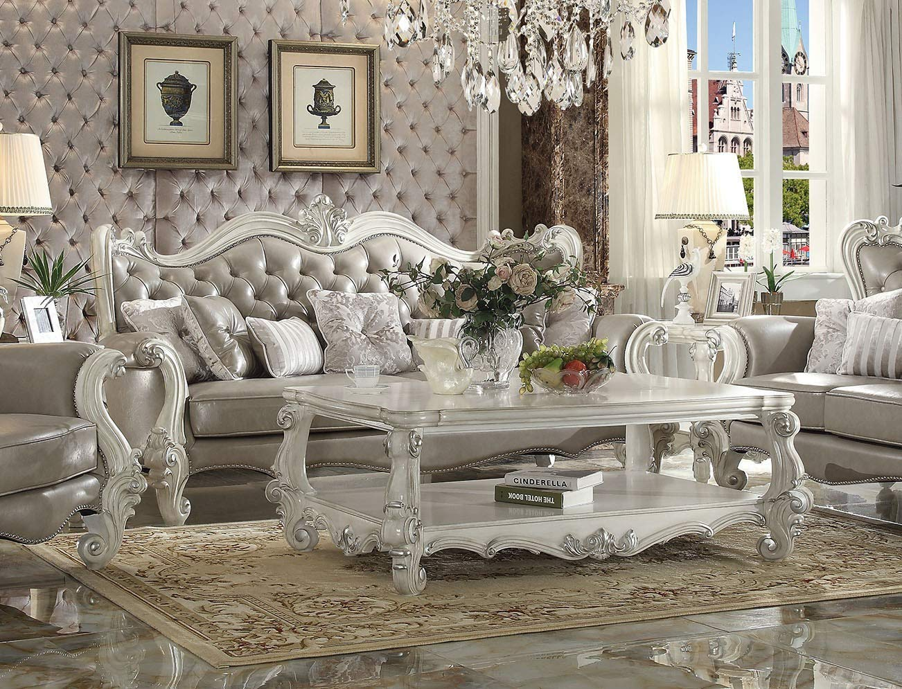 Amazon.com: Esofastore Luxurious Living Room Furniture 3pc ...