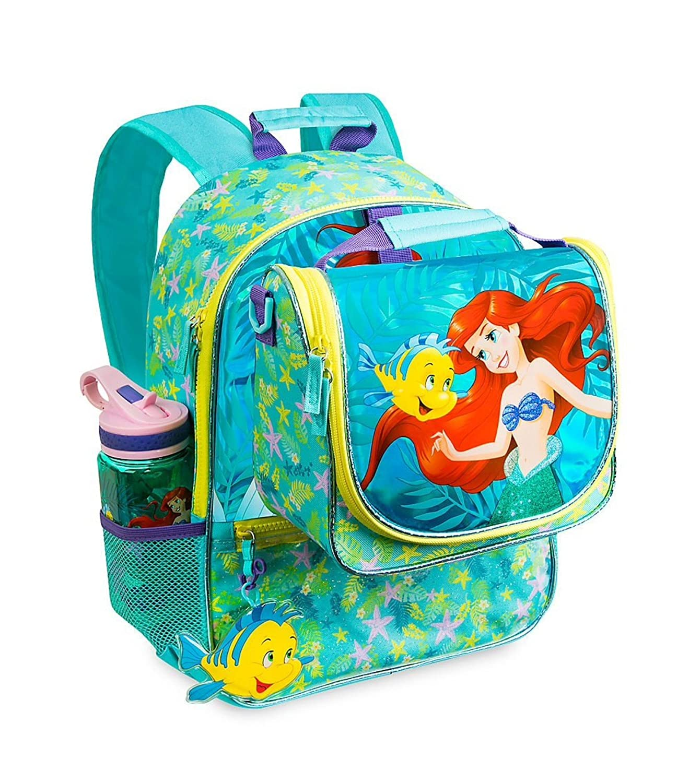 Amazon.com: Disney Little Mermaid Ariel Backpack & Lunch Tote Set: Clothing