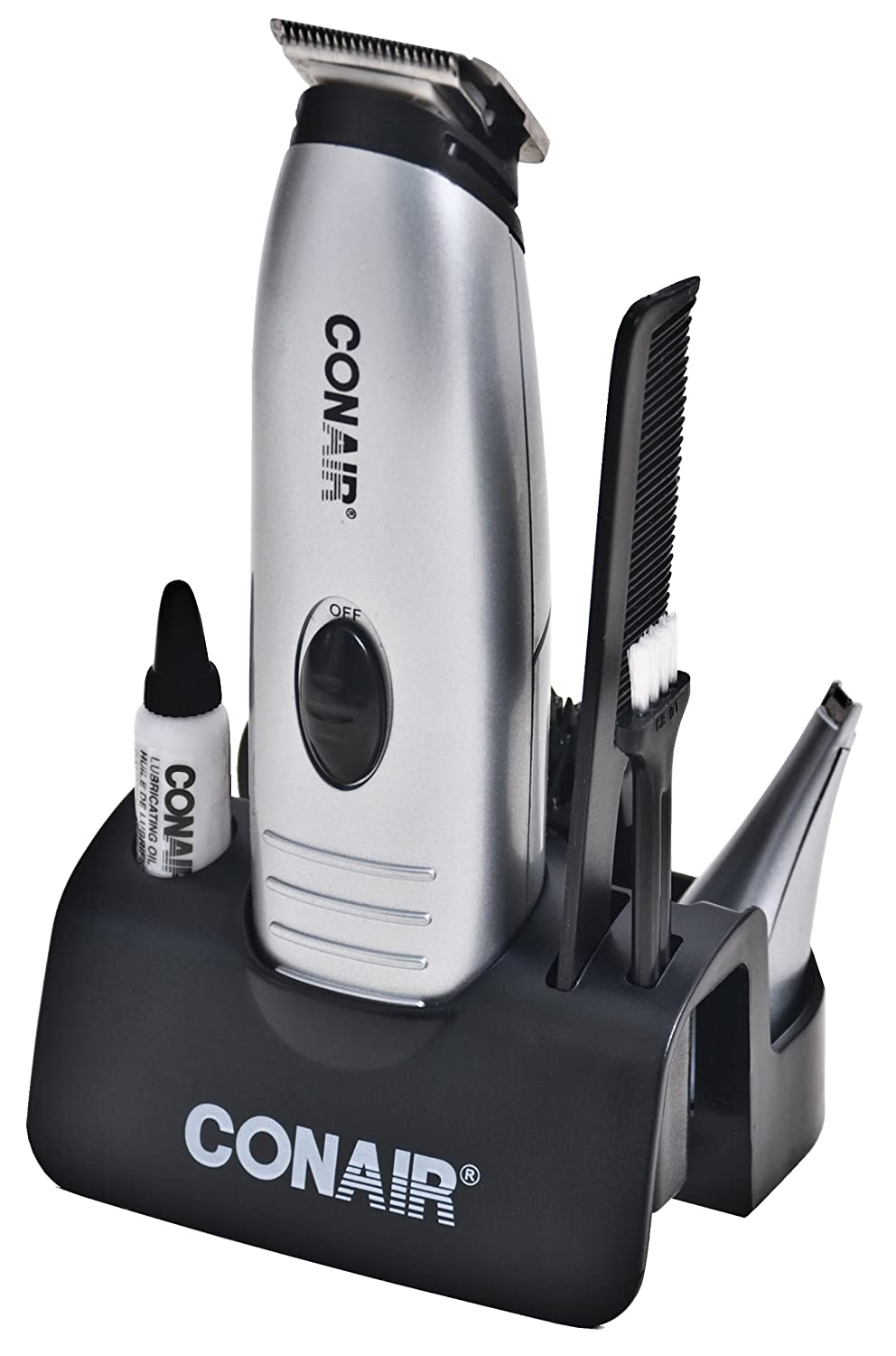 Conair for Men GMT170AC Battery Operated Beard and Moustache Trimmer with Bonus Nose/Ear Trimmer
