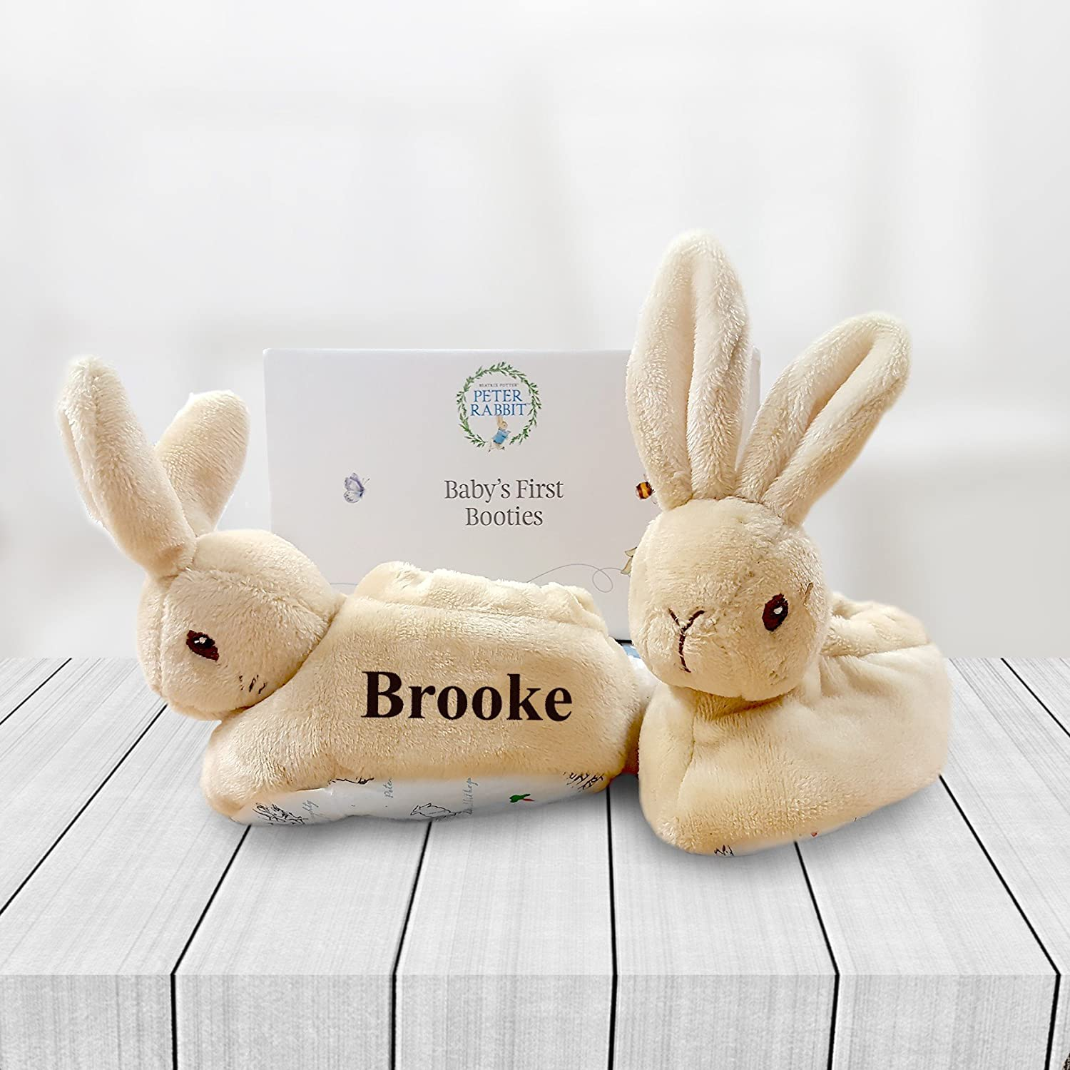 Personalised Peter Rabbit Baby Booties Free Delivery