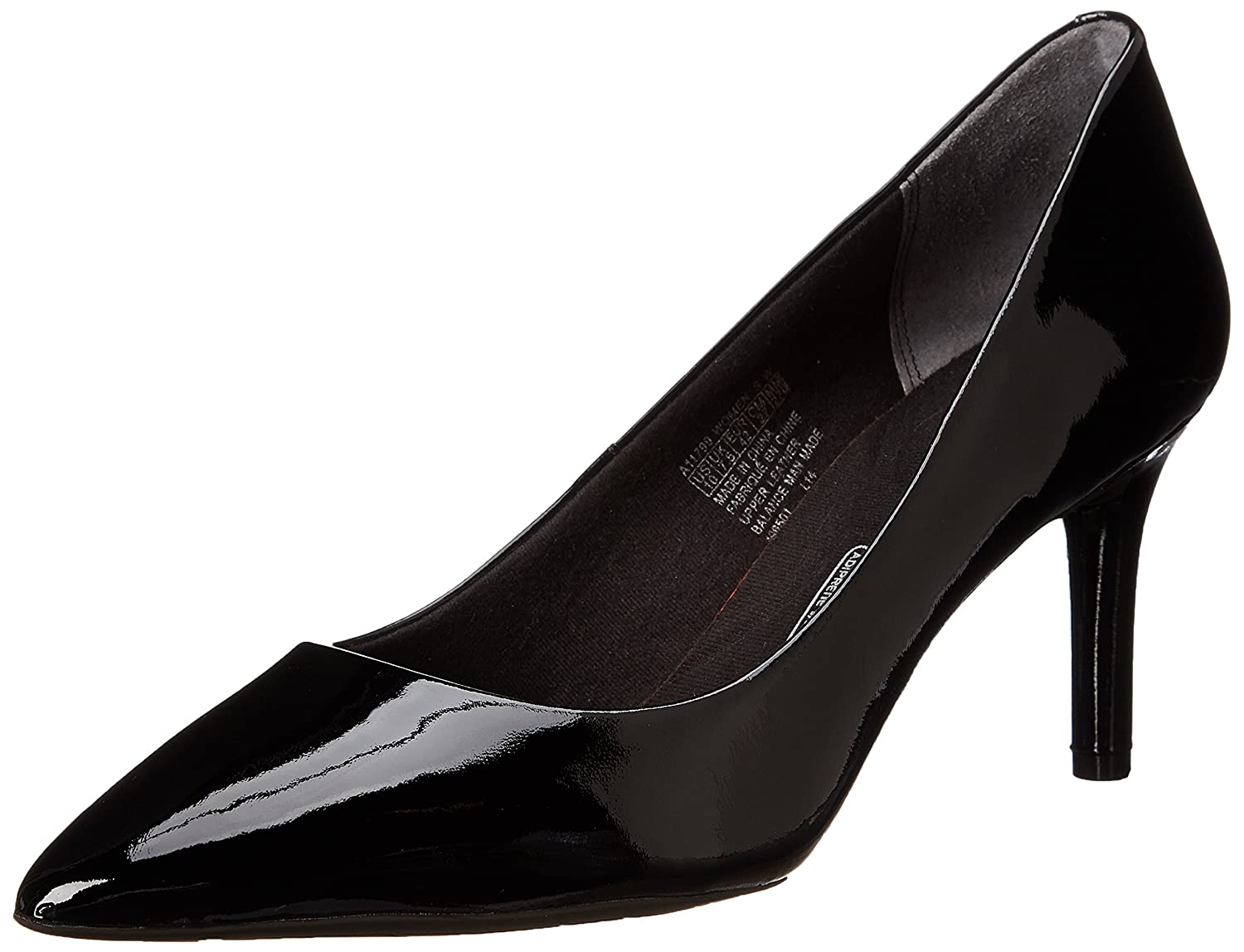 Black Patent Rockport Women's Total Motion 75mm Pointy Pump