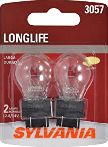 SYLVANIA - 3057 Long Life Miniature - Bulb, Ideal for Daytime Running Lights (DRL) and Back-Up/Reverse Lights (Contains 2 Bulbs)