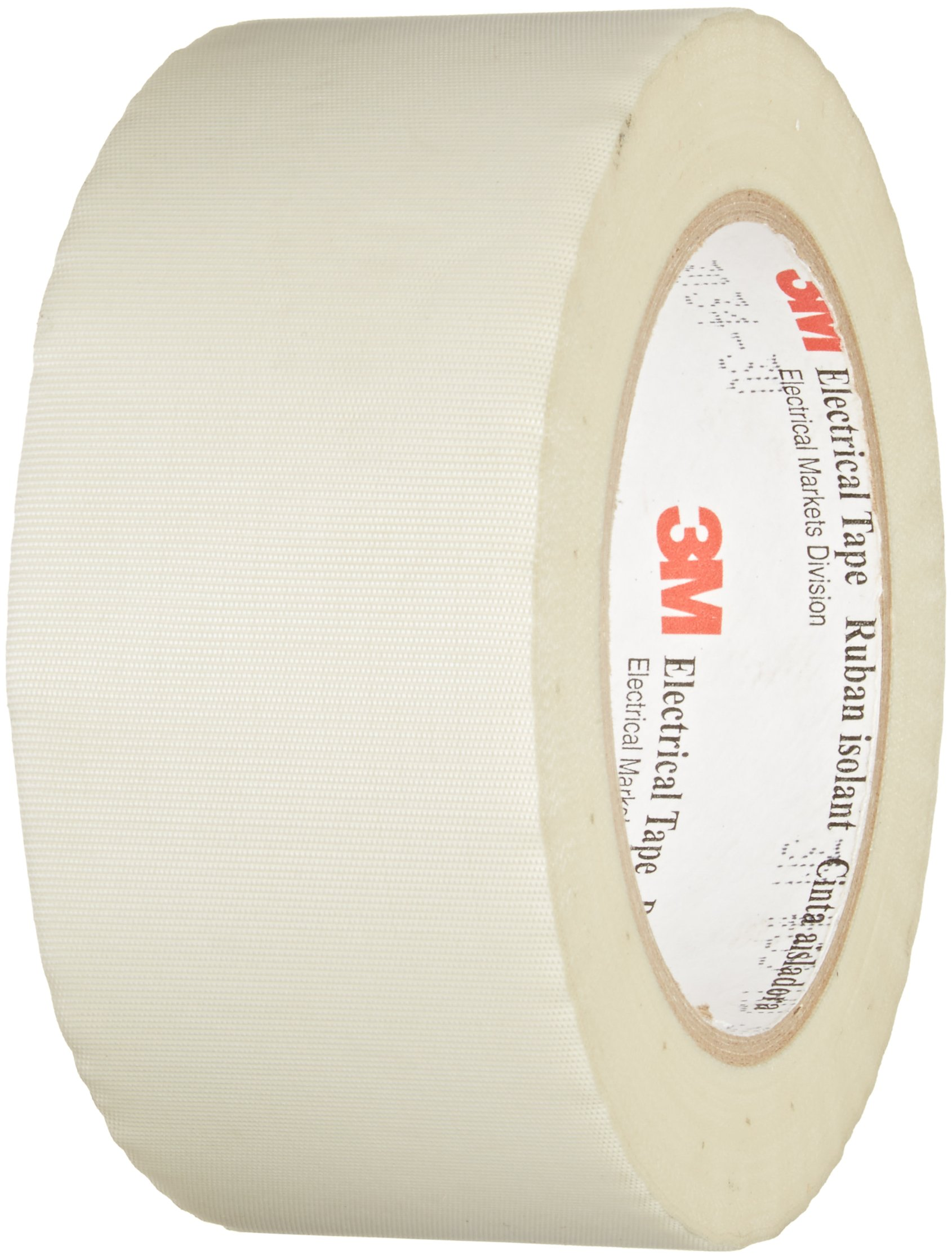 3M Glass Cloth Electrical Tape 69, 2'' width x 36yd length (1 roll), White