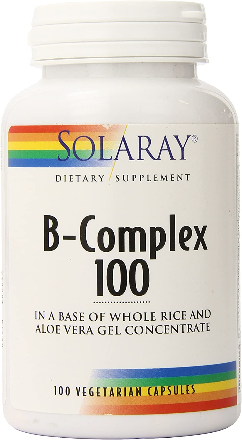 Solaray Vitamin B-Complex 100 | Supports Healthy Hair & Skin, Immune System Function, Blood Cell Formation & Energy Metabolism | 100 VegCaps: Health & Personal Care