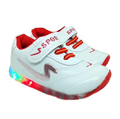 8f2ff242e34a TeeniTiny Light Shoes for Kids Boys Girls   Baby (06 Months - 2.5 Years)  Red