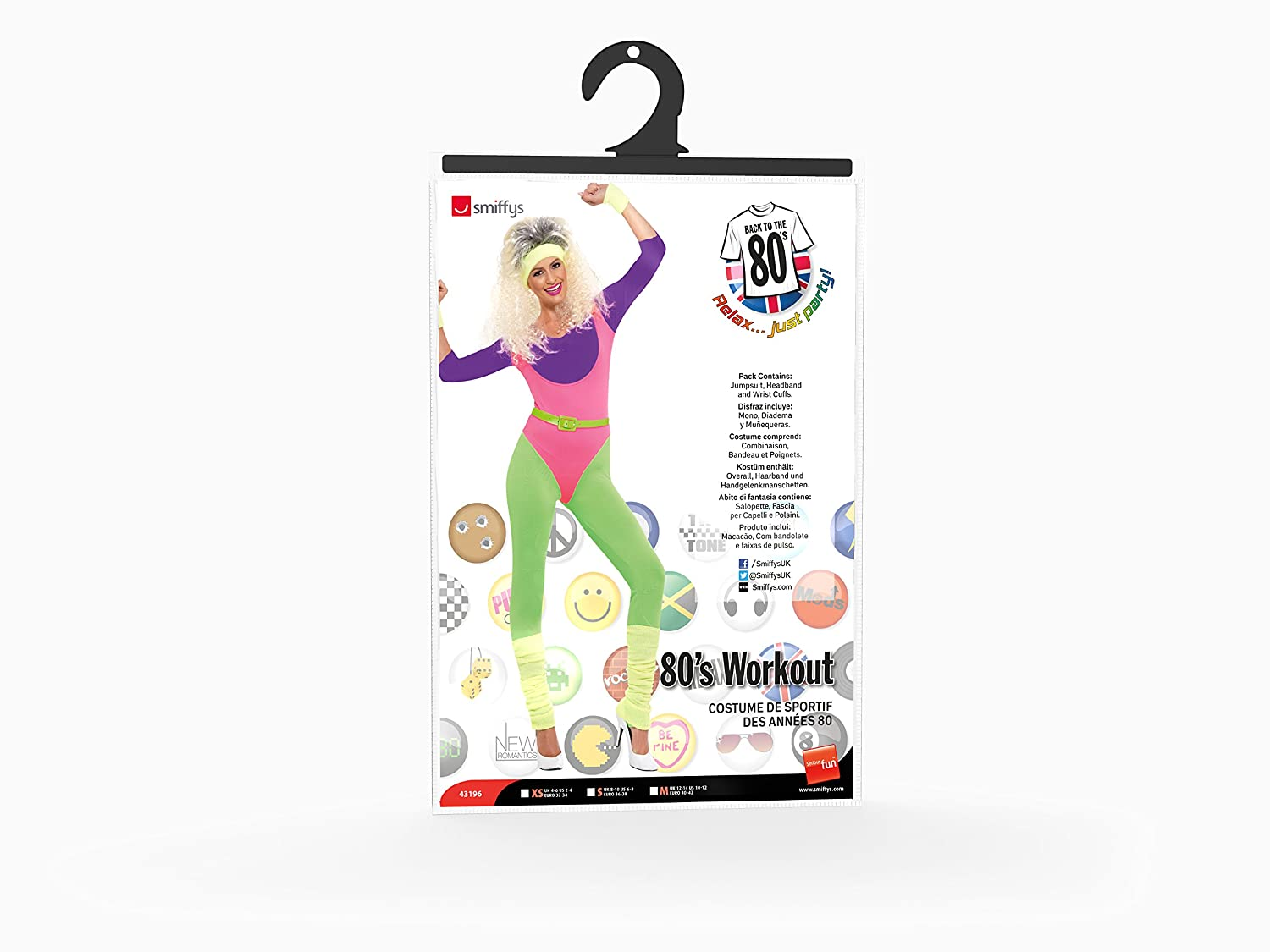 Smiffys Womens 80s Work Out Costume