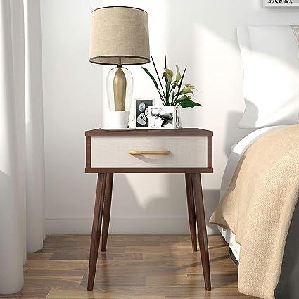 Lifewit comodino con cassetti, comodino lampada da scrivania per ...