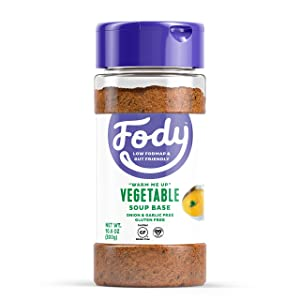 Fody Foods Vegetable Soup Base | Natural Flavor | Low FODMAP Certified | Gut Friendly No Onion No Garlic | IBS Friendly Kitchen Staple | Gluten Free Lactose Free | 10.6 Ounce