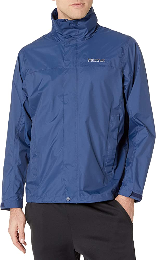 Amazon Com Marmot Men S Precip Waterproof Rain Jacket Arctic Navy Small Marmot Clothing