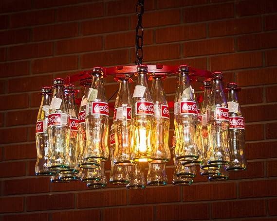 Coke bottle chandelier pendent style amazon coke bottle chandelier pendent style aloadofball Images