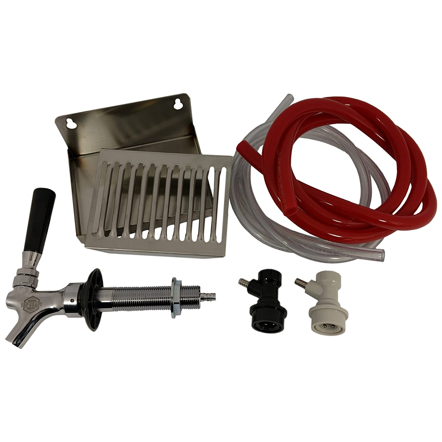 "Single Faucet Draft Beer Refrigerator Conversion Kit w/ 4 1/2"" Shank"