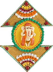 999Store Ganesha Sitting Beautiful Painted Main Door Hanging Indian Home Decorative Items Indian Home décor Rajasthani décor