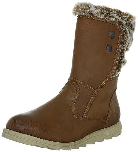 1d3a4d54917c46 Mustang Womens Damen-Stiefel Boots Brown Braun (Cognac 307) Size  37 ...