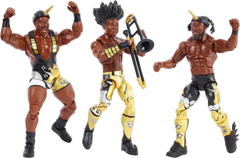 WWE FDX69 Elite Bootyos Wrestling Tag Team Figuras de acción Triple Pack en Caja de Cereales: Amazon.es: Juguetes y juegos