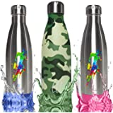 Reusable Stainless Steel Water Bottle, Vacuum Insulated, Ecofriendly for Hot or Cold Drinks, 17 Ounce / 500 mL, Leakproof Screw Top, Keeps Drinks Hot Up to 12 Hr & Cold for 24 Hr by Live Long Life
