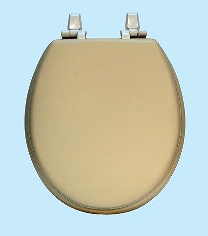 Astounding Centoco Hps20 106 A Soft Vinyl Round Toilet Seat Almond Uwap Interior Chair Design Uwaporg