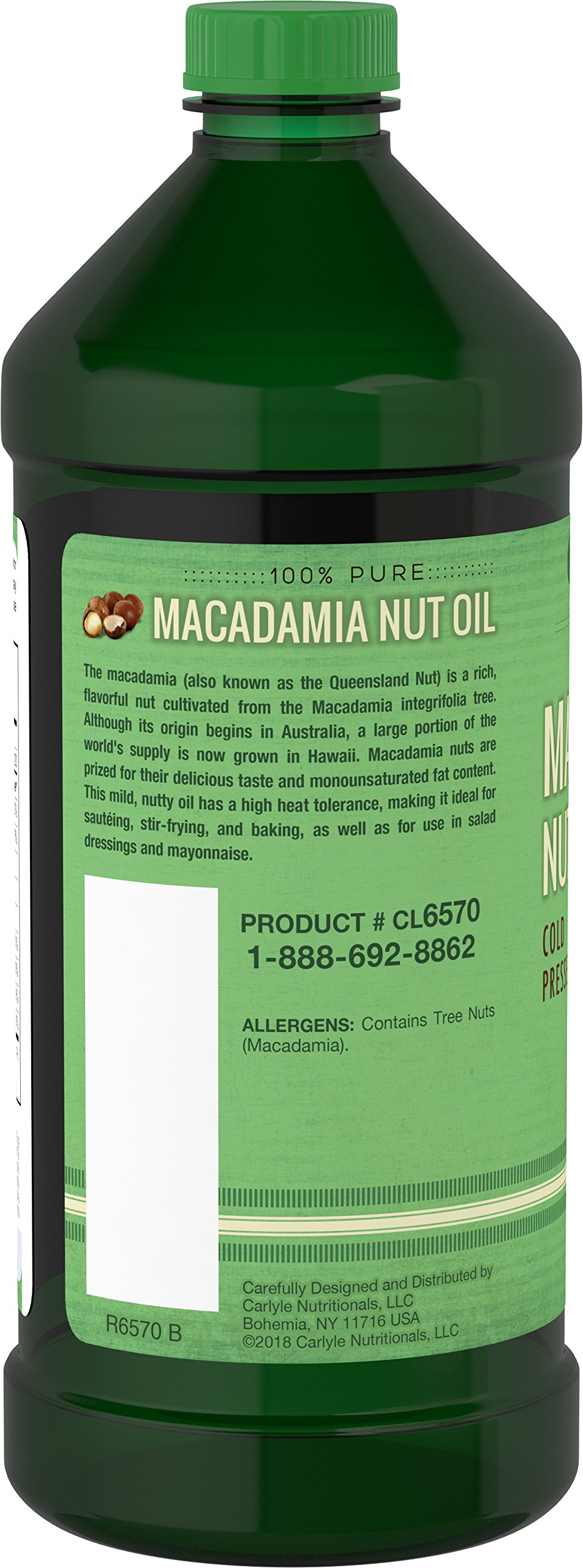 Carlyle Macadamia Nut Oil 3 Pack 16oz Cold Pressed by Carlyle (Image #4)