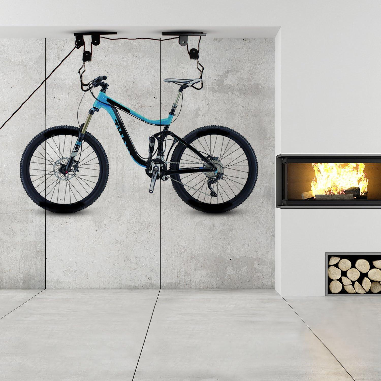 merssavo soporte bicicleta almacenamiento bicicleta techo garaje ascensor montaña almacenaje bicicleta: Amazon.es: Deportes y aire libre