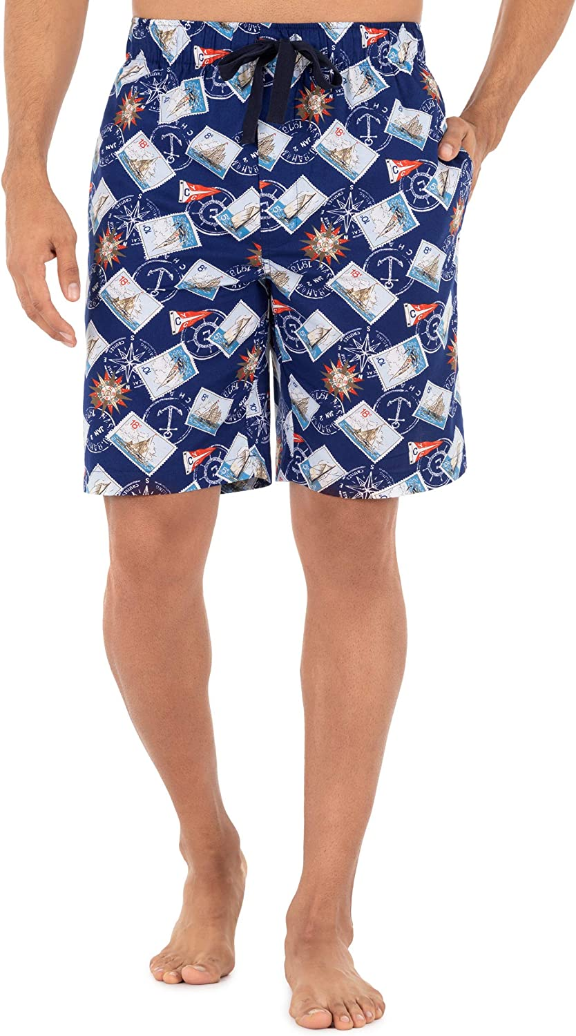 Chaps Men's Relaxed Fit Cotton Printed Sleep Short
