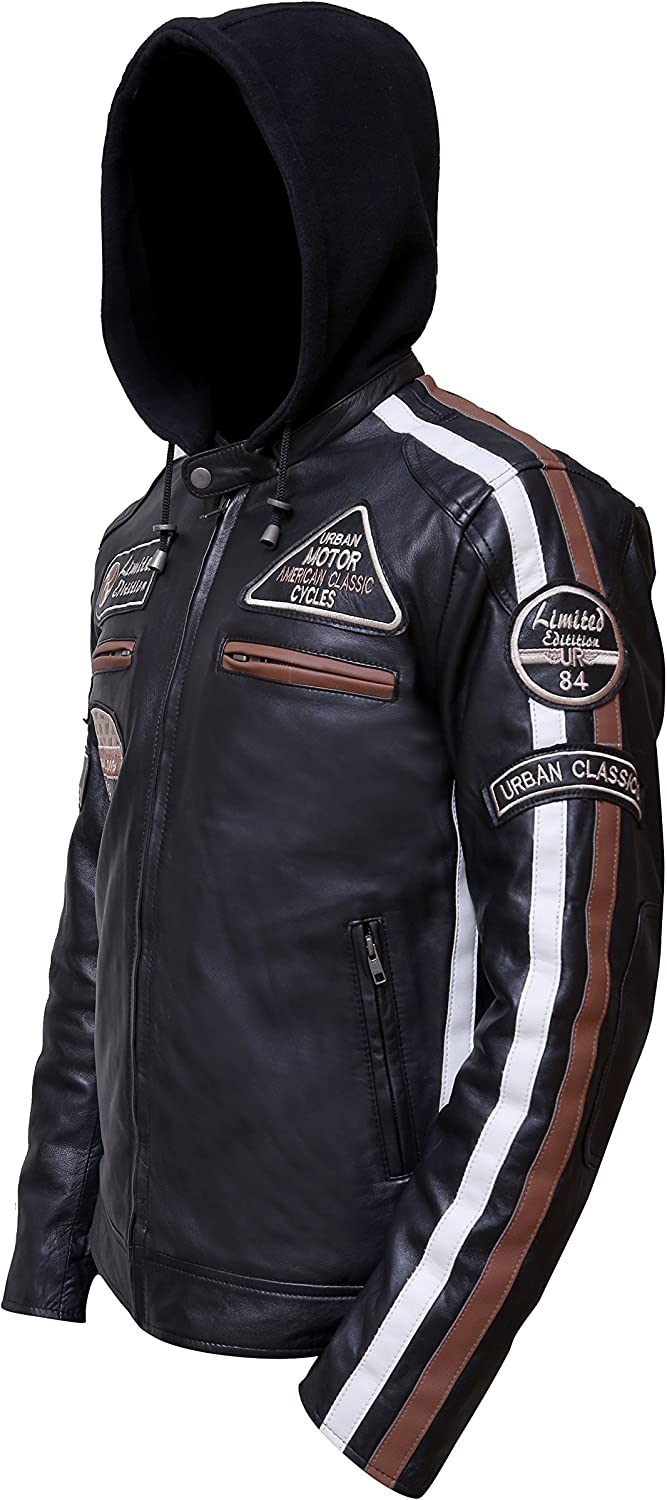 Urban Leather UR-01 58 Veste pour Homme