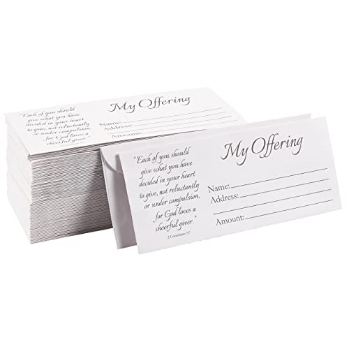 100 Pack Church Offering Envelopes