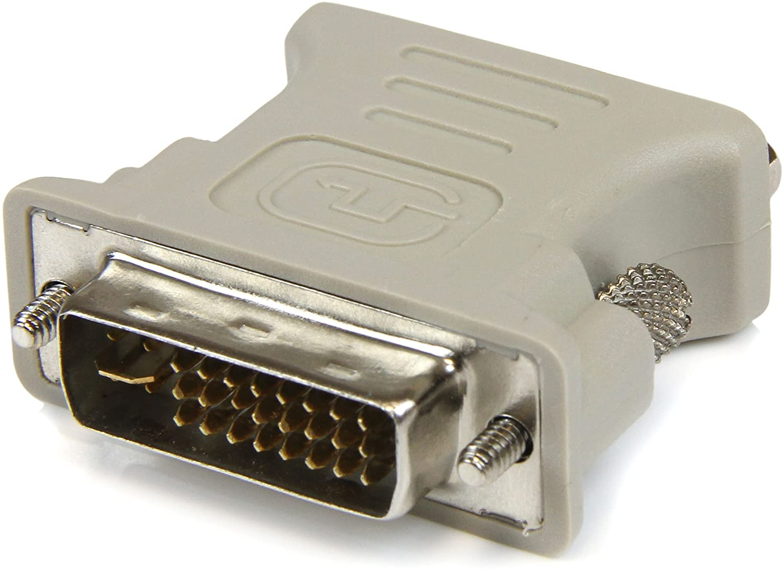 Amazon Com Startech Com Dvi To Vga Cable Adapter Dvi M To Vga F 1 Pack Male Dvi To Female Vga Dvivgamf Beige Electronics