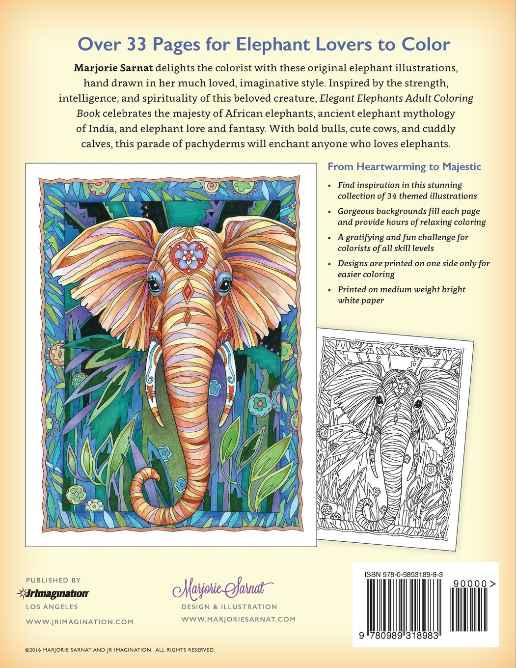 The Art Of Marjorie Sarnat Elegant Elephants Adult 9475010