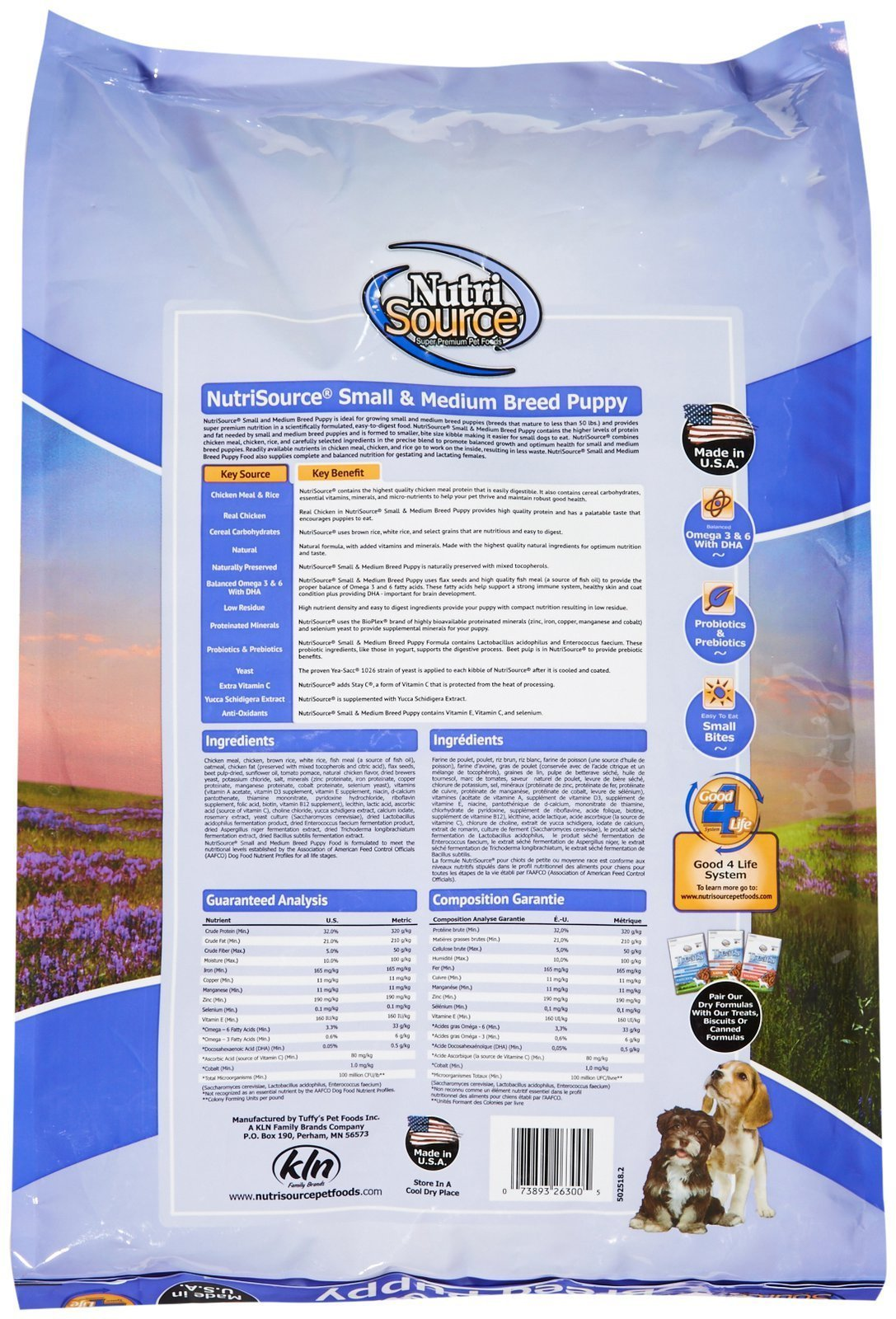 Tuffy's Pet Food 131508 Nutri Small/Medium Breed Puppy Food, 35-Pound by Nutri Source (Image #2)